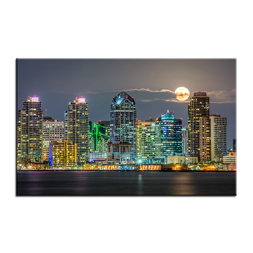 large size printing oil painting san diego skyline wall painting decor wall art picture for living room painting no framein painting u0026 calligraphy from