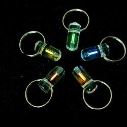 Тритий газовый светильник брелки без энергии само светящаяся флуоресцентная трубка 25 лет акриловая труба брелок для ключей
