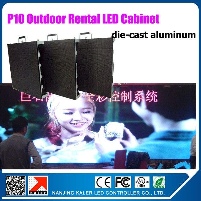 TEEHO 640x640mm p10 outdoor die-cast aluminum waterproof rental led video wall 3030SMD high brightness