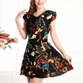 free shipping summer style dress women 2016 fashion new 36 colors print dress V-neck hot selling female plus size casual dresses