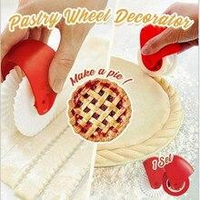 Coupe-pâtisserie en plastique, roue à rouler, décorateur, Pizza, treillis, tarte, nouilles, coupe lisse, bricolage, cuisine manuelle antirouille