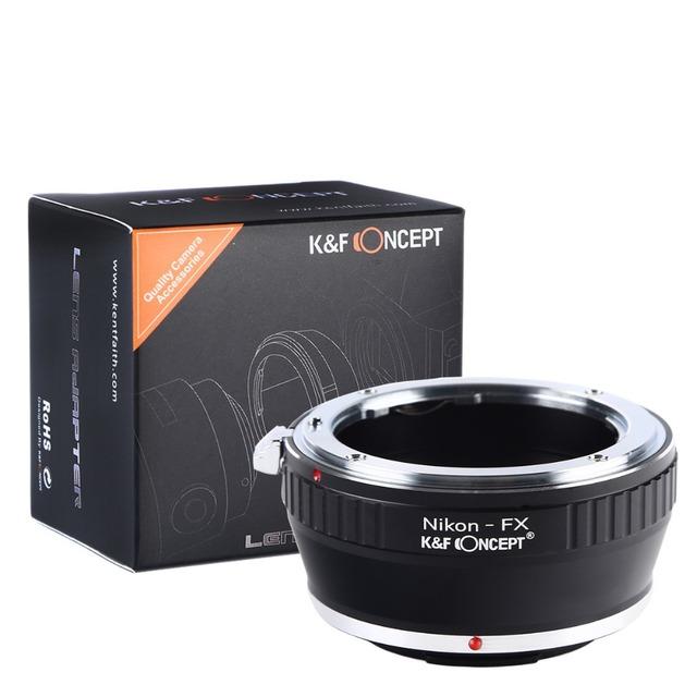 K & F CONCEPTO Envío Libre Anillo Adaptador para Nikon AI Automático ais lente af para fujifilm fuji mount fx x-pro1 x-e1 cámara
