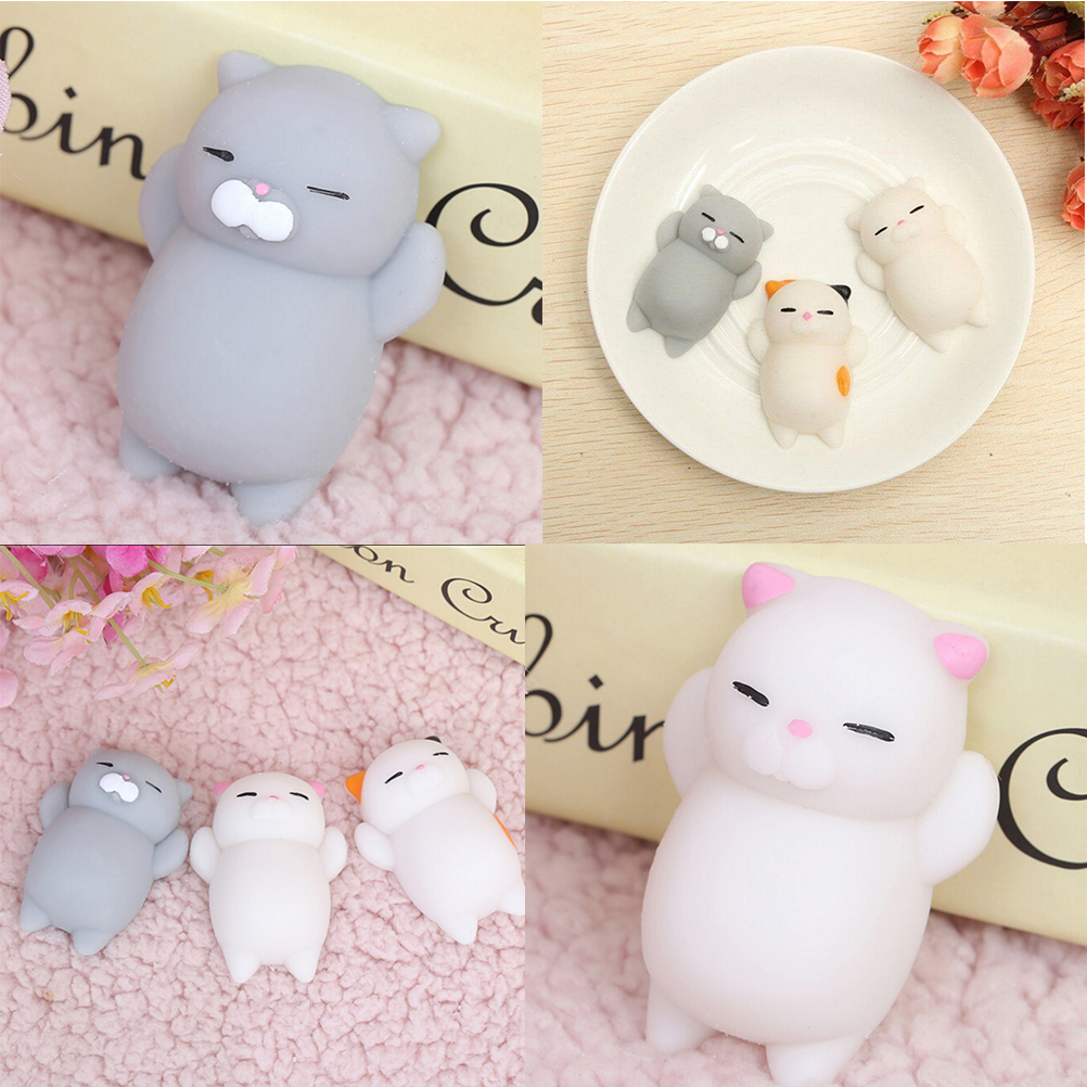 Self-Conscious Kawaii Mochi Animal Squishy Bread Lazy Sleep Cat Pussy Slow Rising Bag Accessories &ornament Ushihito Cartoon Bag Parts & Accessories