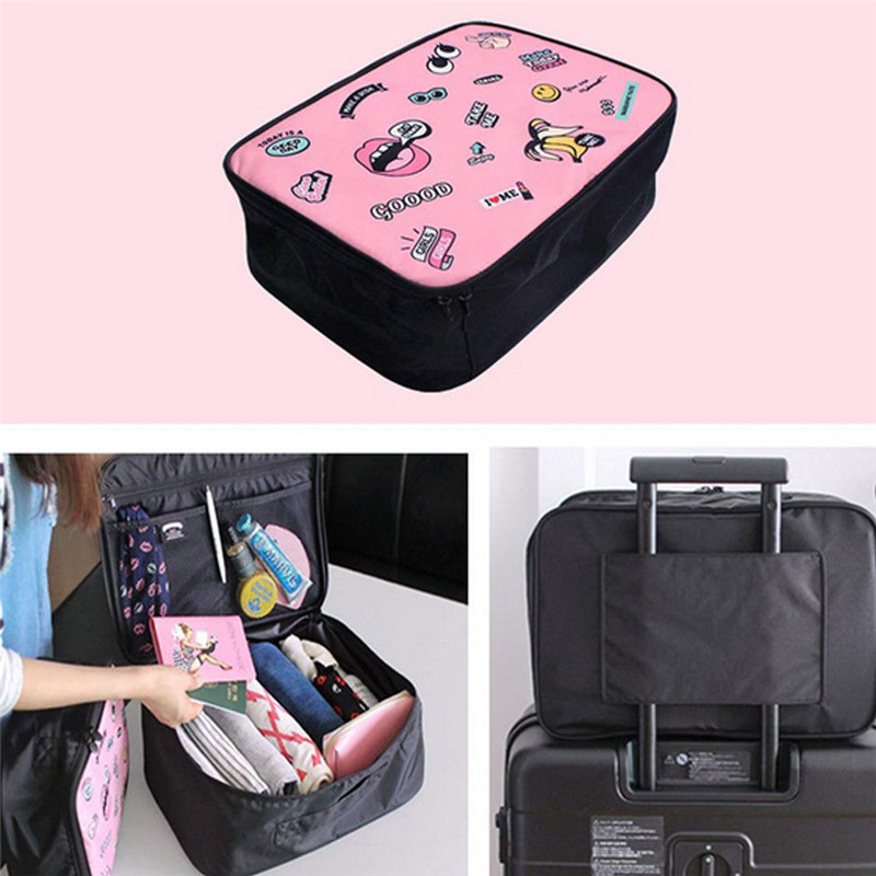 Fashion Women Make Up Box Ladies Print Cosmetic Bag Zipper Large Capacity Makeip Case For Lady Clutch Travel Pouch