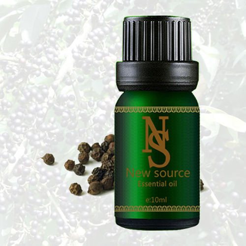 Free shopping Pure plant black pepper essential oil 10ml stimulate the mind carminative exhaust