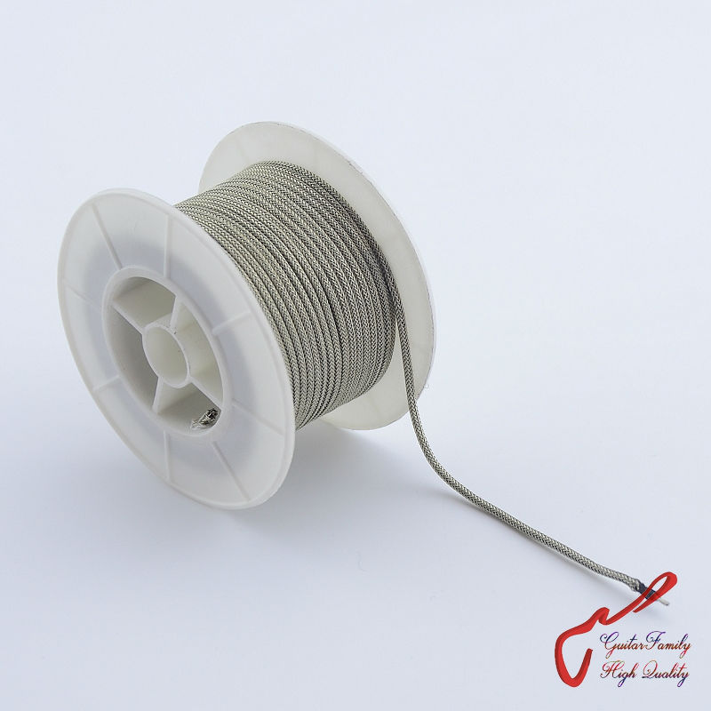 GuitarFamily Vintage Braided Shielded Push-Back Cloth Wire For Electric Guitar  ( #0097 ) MADE IN USA