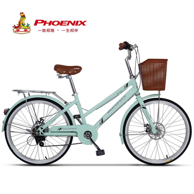 Phoenix 24-26 ''femmes vélo route vélos rétro vélo dames vélo Bicicleta Aluminium Double frein à disque bisiklet bicicleta