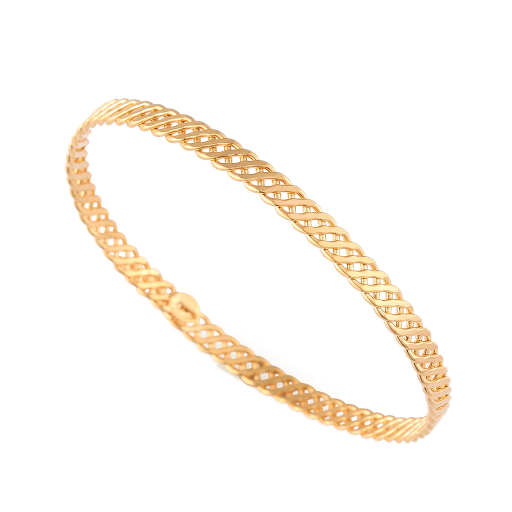 New Fashion Unisex Men Women Gold Plating Hand Curb Chain Bracelet Bangle  E2shopping @m23