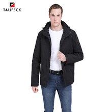 2019 New Men Spring Jacket Casual Thin Cotton Padded Coat Autumn Warm Parka Windbreaker Outwear Plus Size