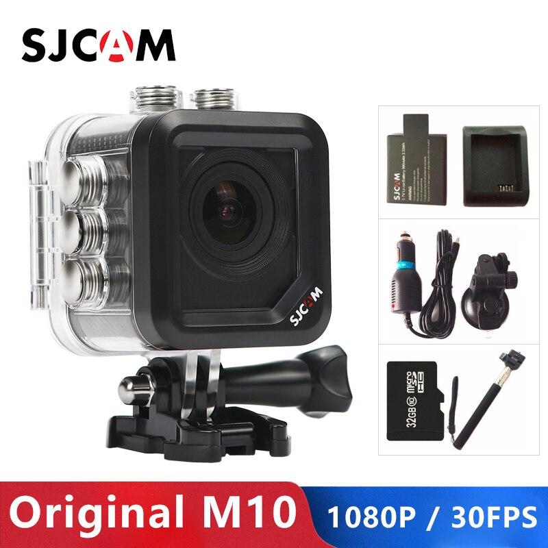 Em Estoque! Original sjcam m10 câmera de ação do esporte completo hd 1080 p mergulho 30 m à prova ddv água câmera dvr camcorder m10 esportes dv cam