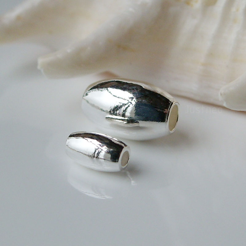 Solid 925 Sterling Silver Hope Barrel Charm Bead