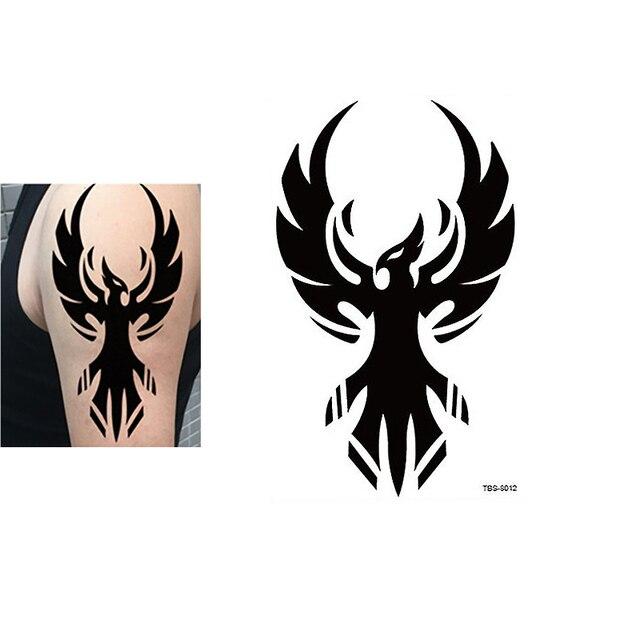 e42ad7a79686b Black Phoenix Totem Tattoo Body Art 3D Waterproof Temporary Tattoos Sticker