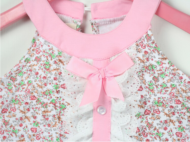 [Jilly] summer style baby girl kids clothes bow princess clothing set baby girls clothes children clothing fashion 3-11Age Hot