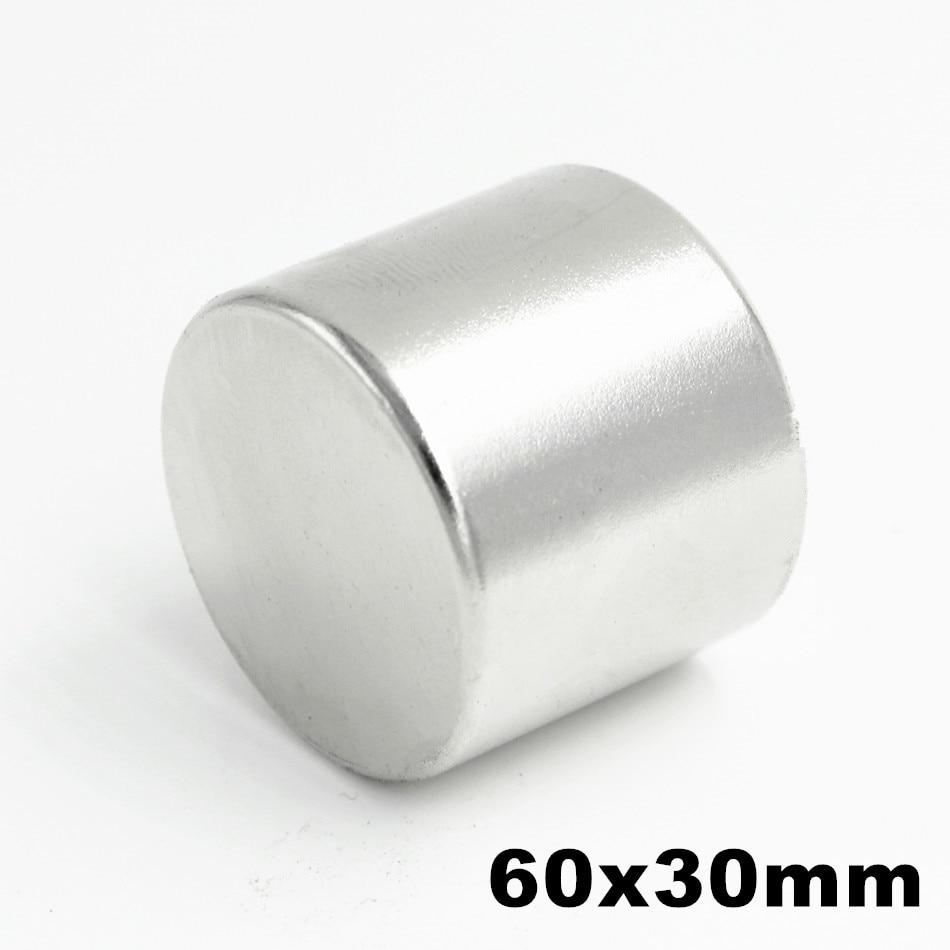 1pcs 60x30mm Super Powerful Strong Bulk Small Round NdFeB Neodymium Disc Magnets Dia 60mm x 30mm N35 Rare Earth NdFeB Magnet цена