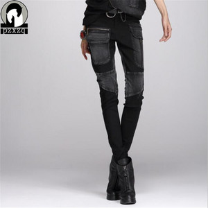 Image 4 - Free Shipping Europe Sexy Black Jeans Woman Pencil Pants spring Winter Baggy Casual Jeans Women Loose Haren Pants Jeans Feminina