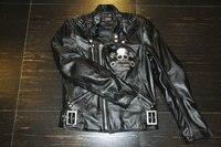 2016 Promotion New Men Motocross Body Armor Uglybros Motorcycle Leather Jacket Vintage Skeleton / Male Female Slim Size S 2xl