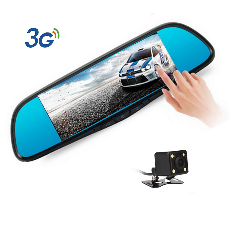 Mirror Android 5.0 7 inch With GPS navigation Automobile DVRs Dash Cam mirror Video Recorder 3G Car DVR Camera