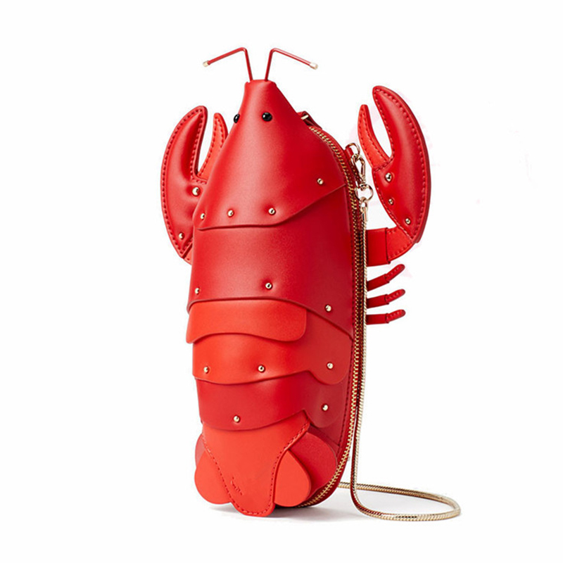 Bolsos Mujer Fun Lobster Chain Crossbody Bag For Women Pu Leather Small Purse Pouch Ladies Cute Shoulder Female Flap MessengerBolsos Mujer Fun Lobster Chain Crossbody Bag For Women Pu Leather Small Purse Pouch Ladies Cute Shoulder Female Flap Messenger