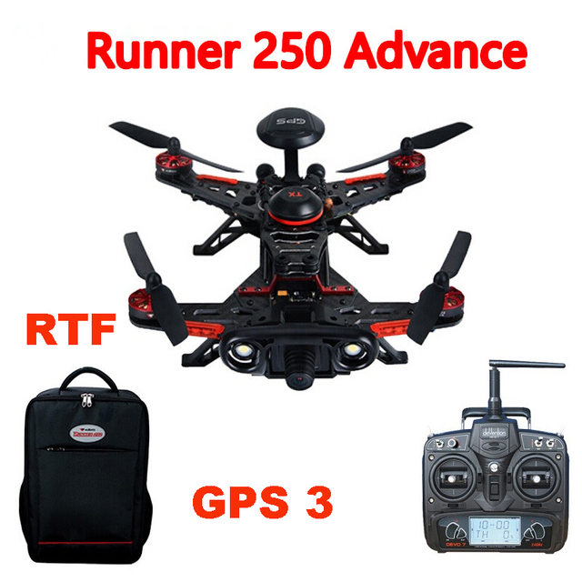 Walkera Runner Runner 250 Advance 250 (R) Sistema GPS RC Quadcopter con DEVO 7/OSD Cámara/mochila RTF GPS 3 Versión
