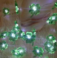Led four leaf lamp string 2 m 20 lamp brass wire lamp string festival decorative lamp battery box