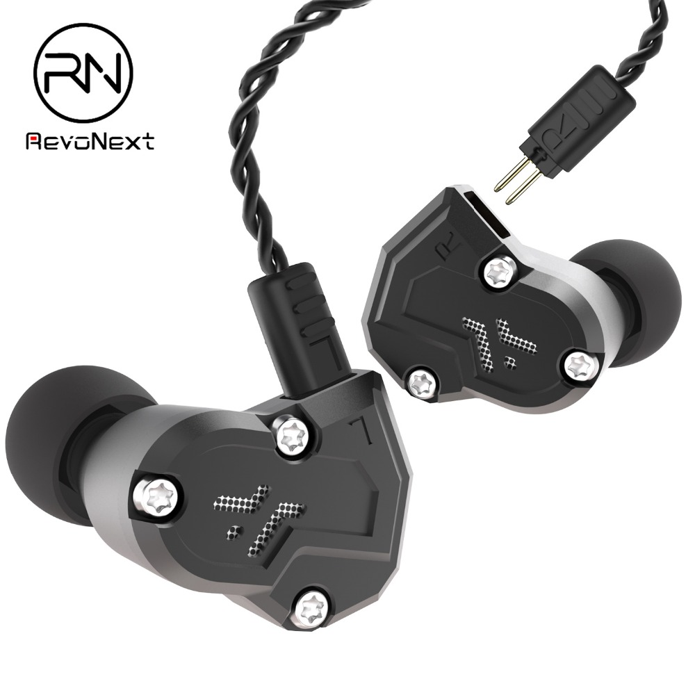RenoNext QT3S 4 Dynamic Hybrid In Ear Earphone HIFI DJ Monito Running Sport Earphone 2 Drive Unit Headset Earbud-in Phone Earphones & Headphones from Consumer Electronics    1