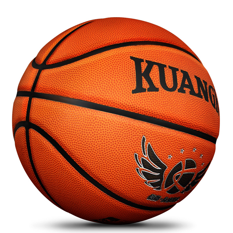 Kuangmi Microfiber Leather Basketball Outdoor and indoor match training Basketball Ball Size 7 Sweat Absorption basquete needle kuangmi sporting goods basketball pu training game basketball ball indoor outdoor official size 7 military sporit series netball