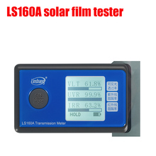 LS160A Solar Film Tester, Portable Solar Film Transmission Meter ,Resolution: 0.1% VL/UV/ IR 3 in 1 tester ls162 transmission meter solar film window tint transmission meter the testing slot is up to 8mm can test filmed glass directly