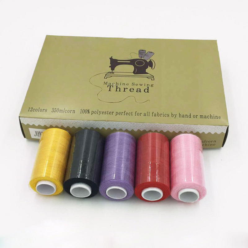 12 pcs/box Polyester Machine Embroidery Sewing Threads Hand Sewing Thread Craft Patch Steering-wheel Sewing Supplies