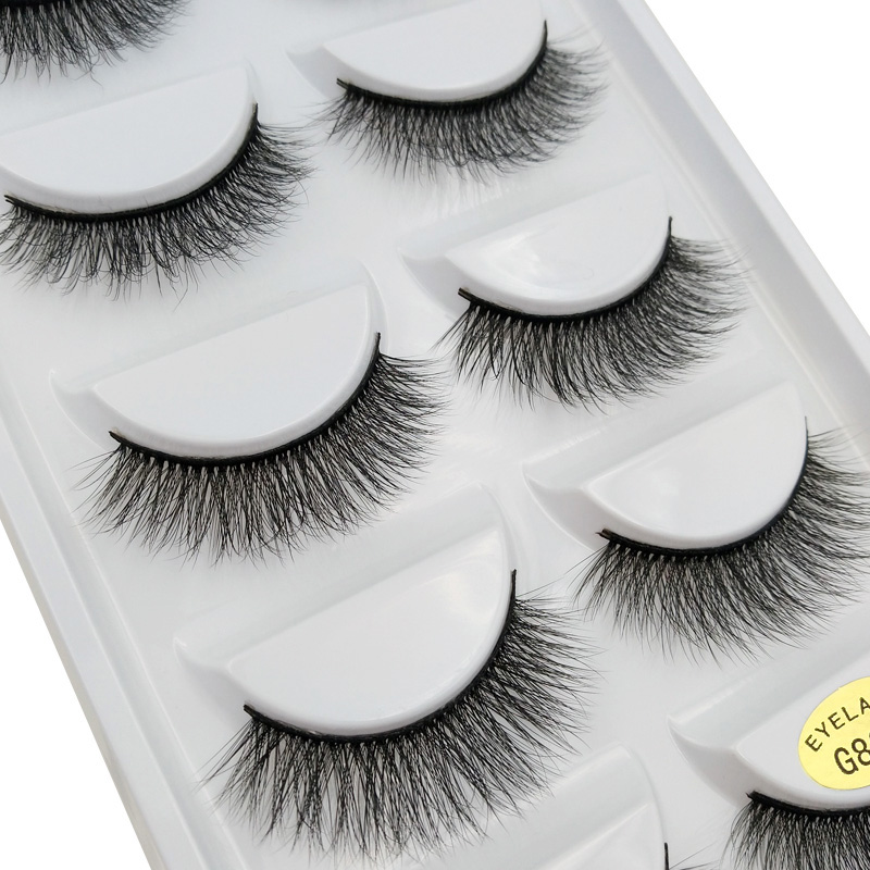 SHIDISHANGPIN 5 pairs mink eyelashes natural long 3d false lashes 3d mink eyelash extension 1 box makeup false eyelash G805