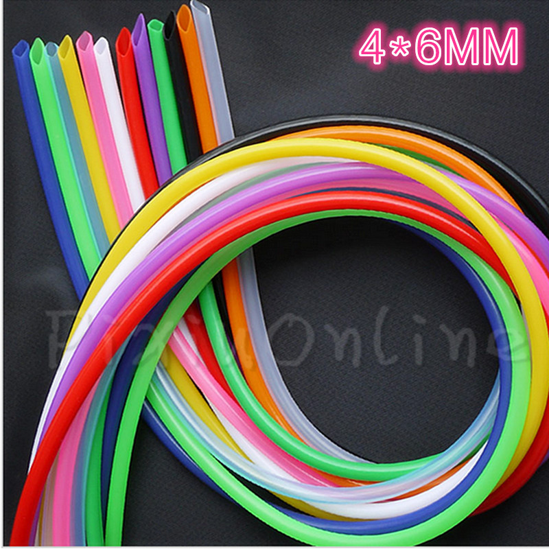 1Pc ST060b 4*6MM 1Meter Silicone Tube Food Grade Hose Pipe Colorful Silicone Rubber Sleeving Sell At A Loss купить