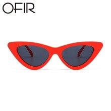 f9e288a1c26d7 OFIR Sexy Cat Eye Sunglasses 2018 Nova Moda Triângulo Pequeno tamanho  Moderno Retro Designer Mulheres Óculos de Sol Tons para a .