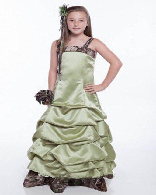 Camo Flower Girl Dress