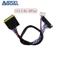 Evrensel 1 ch 8 bit 40 pin 40 pin tek 8 LVDS kablosu laptop notebook için LED panel matris ekran