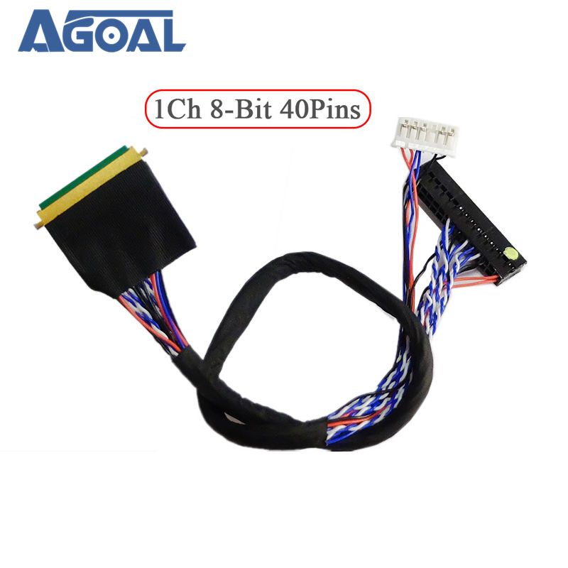 Universal 1 ch 8-bit 40 pins 40 pin single 8 LVDS cable for laptop notebook LED panel matrix screen(China)