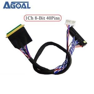Image 1 - Đa Năng 1 Ch 8 Bit 40 Chân 40 Pin Đơn 8 LVDS Cáp Cho Laptop Notebook Bảng LED Ma Trận màn Hình