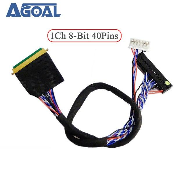 Đa Năng 1 Ch 8 Bit 40 Chân 40 Pin Đơn 8 LVDS Cáp Cho Laptop Notebook Bảng LED Ma Trận màn Hình