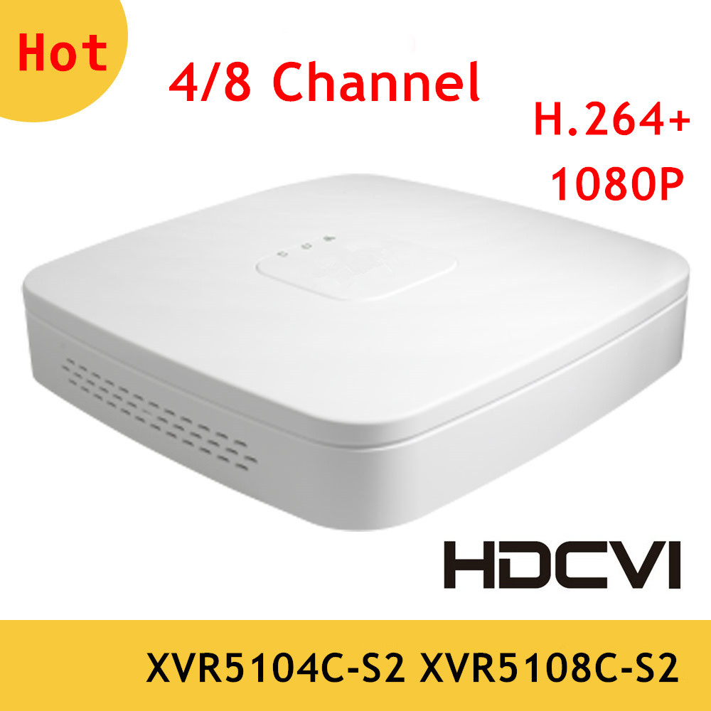 Original DH XVR 4 Channel 8 Channel 1080P Digital Video Recorder DH HCVR for HDCVI camera system XVR5104C-S2 XVR5108C-S2 original x7296a 375 3290 xvr 100