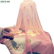 New mosquito net bed Hanging Children Pink 3 colors Dome Bed Canopy summer Mosquito girl boy Bedding Baby Kids Home Decoration 859 combined bunk beds 1 5m children bed 3 in 1 children bed with storage pink kids lovely bed