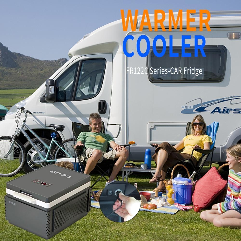 SOAC Car Refrigerator 12L Portable Vehicle Fridge Electric Cool Box Cooling And Warming Dual-purpose Kitchen Household gray 12V цена