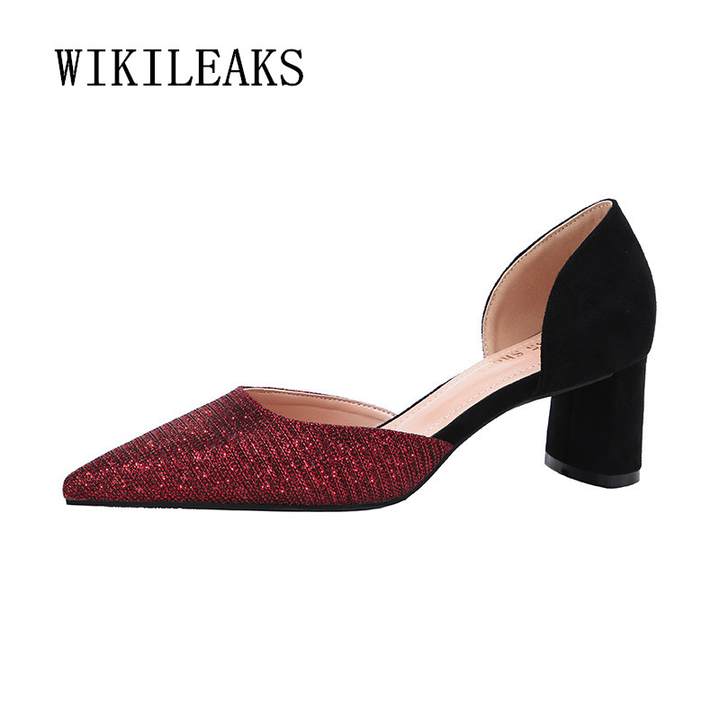 bling bling women shoes 2019 spring fetish high heels sexy pumps formal wedding ladies shoes red high heels zapatos mujer tacon