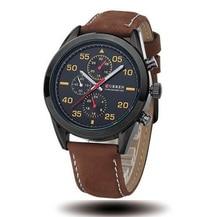 Часы мужчины подлинная Curren 2016 новый горячий деловой человек смотрит световой открытый спортивные наручные часы с высокое качество кожаный ремешок