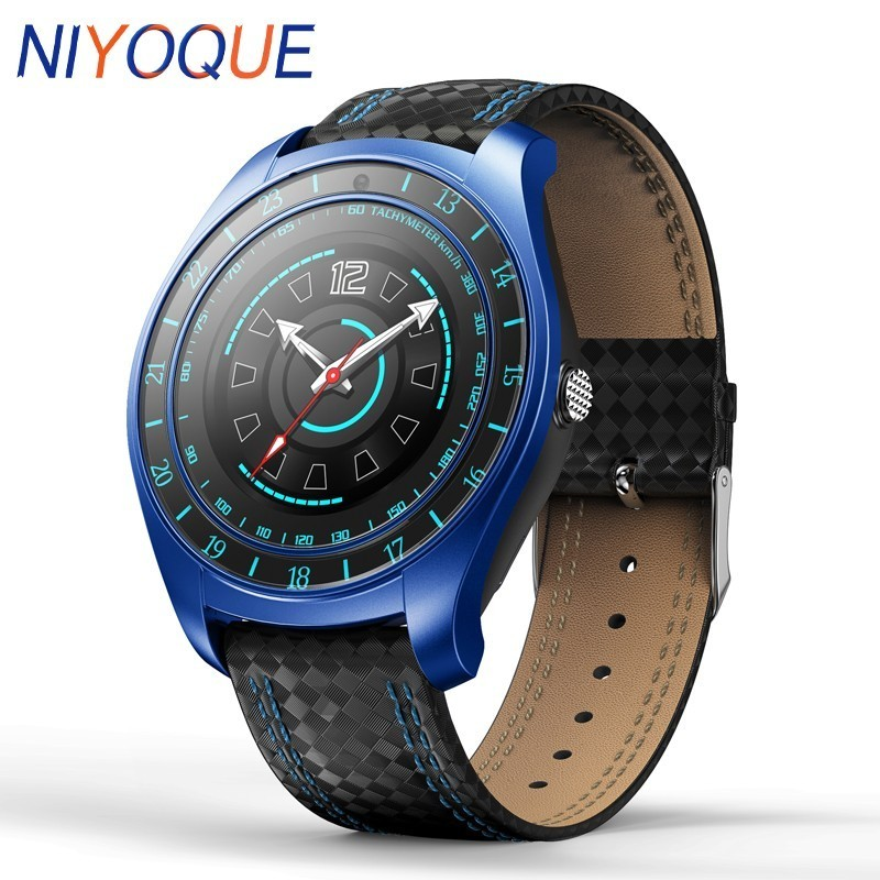NIYOQUE <font><b>V10</b></font> Smart Watch Men With Camera Bluetooth <font><b>Smartwatch</b></font> Pedometer Heart Rate Monitor Sim Card Band Watch For Android IPhone image