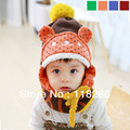 Autumn winter children's hat wholesale baby winter hats Add wool beanie kaloo bear collar scarf suit