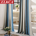 1 PC Striped Modern Curtains for the Bedroom Elegant Window Curtains for Living Room Blinds Drapes Ready Made Curtains Red/Blue