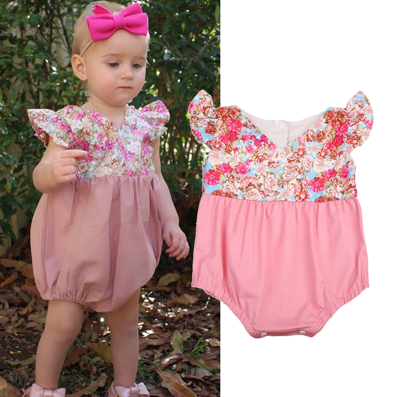 Newborn Infant Baby Girls Kids Romper Jumpsuit Outfits Sunsuit bodysuit baby girl clothe ...