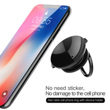 No Damage Airbag Adsorption Phone Holder for iPhone XS Max 8 7 6 Samsung S8 S9 | 360 Degree Phone Stand Finger Ring Holder(China)