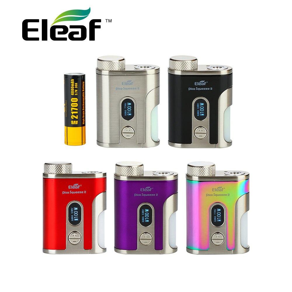 Eleaf IStick Pico Spremere 2 TC Squonk MOD con 4000 mah Batteria Max 100 w di Uscita e 8 ml Capacità squonk Bottiglia Scatola Mod IStick Pico