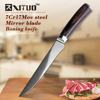 XITUO Brand 5 5 Inch Boning Knives 7CR17Mov Stainless Steel Japanese Chef Santoku Knives Meat Cleaver