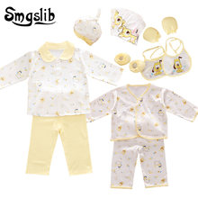 Smgslib Baby clothes cotton 18pcs/set New born baby boy clothes Cartoon baby girl clothes gift tracksuit first birthday outfit(China)