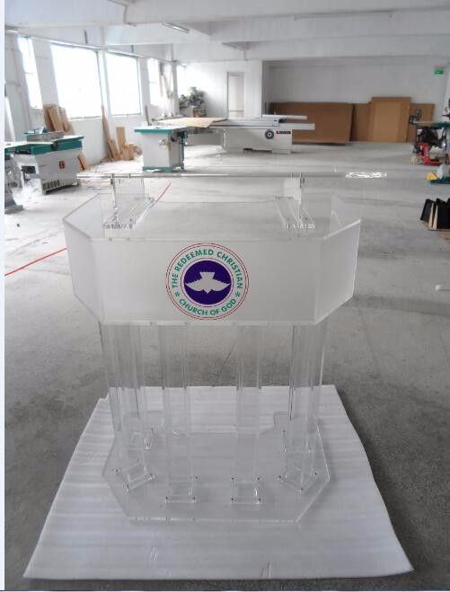 Free Shipping Hot sale modern detachable acrylic podium church logo customize